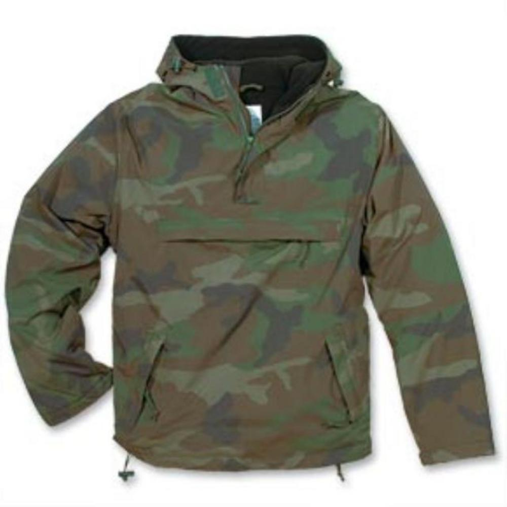 New Windbreaker Cagoule Jacket Fleece Woodland Camo L